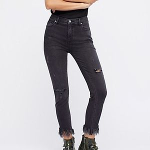 Free People Great Heights Black Jeans